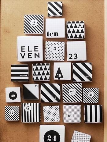 手作りアドベントカレンダー(箱タイプマッチ箱)