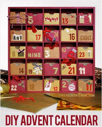 手作りアドベントカレンダー(箱タイプ)