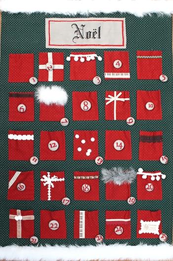 手作りアドベントカレンダー(壁掛けタイプ)