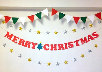 クリスマスパーティー飾り付け(ガーランド)