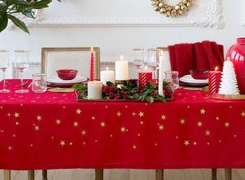 クリスマスパーティー飾り付け(テーブルクロス)