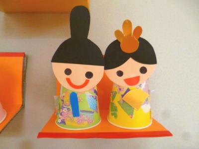 紙コップで作るひな人形①