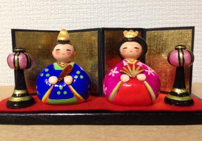 紙ねんどで作る雛人形②