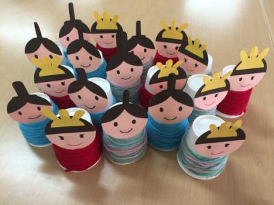 紙コップで作る雛人形②