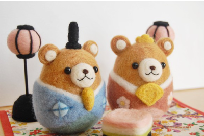羊毛フェルトで作る雛人形②