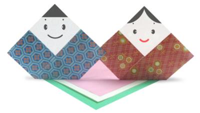 折り紙で作る雛人形①