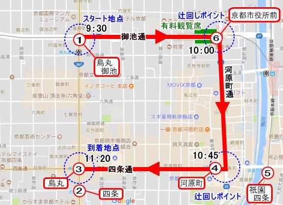 山鉾巡業(7月24日)の最寄り駅